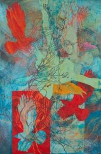 'For Lake, Forest, Sky-Wild wind', Julie Bradley, 2012, mixed media.