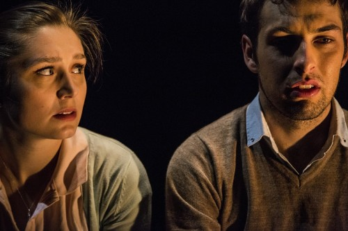 "Hannah Wood, who plays Katy, and Dylan Ven Der Berg, who plays Mitch in ""In Loco Parentis"". Photo by Lorna Sim"