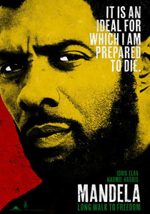 Poster for the forthcoming film about Nelson Mandela ? Long Walk To Freedom, starring Idris Elba.