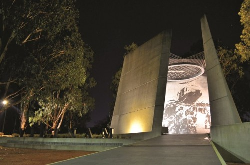 """Colin Duckworth's photograph, """"Dust off on ANZAC Parade: Lest we forget"""""""