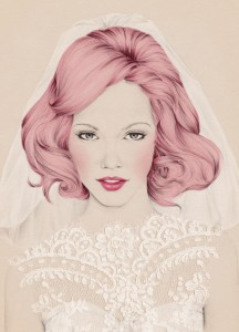 Emma Leonard's winning cover illustration for Hitched's first issue.