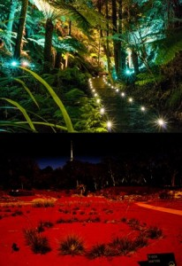 Botanic gardens by night