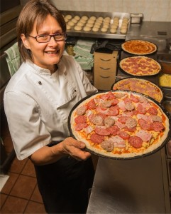 "Irene Paz... ""I love everything about making pizzas, but I've been working hard enough for long enough."" Photo Gary Schafer"