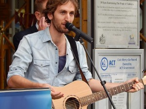 Dominic Lavers performed a song insipred by the merry-go-round.