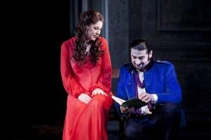 Nicole Car as Tatyana & Dalibor Jenis as Onegin. Photo Lisa Tomasetti