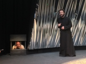 'Sir Topas' torments the imprisoned Malvolio