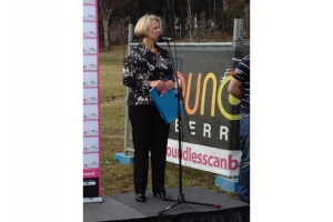 Boundless Canberra board member Natalie Howson at the playground's launch event last year.