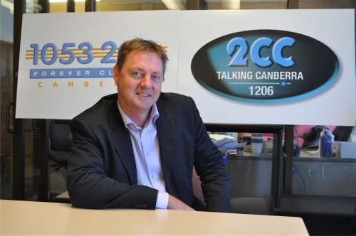 """Radio Canberra GM Michael Jones… """"It's turned on its head because of the greedy record companies""""."""