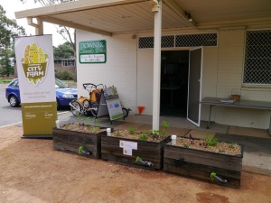 The pop-up garden at Downer Community Centre.