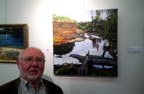Alan J. Jones with his winning painting