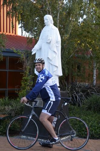 Joe Roff and bicycle