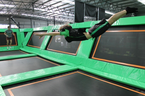 flip out trampolinging