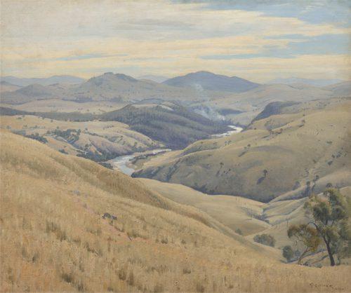 """Gruner's """"Weetangera, Canberra"""", 1937."""