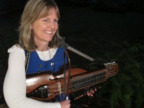Ingrid and her nyckelharpa...  Pining for the Fjord is performing over the June long weekend at the Peak Festival.