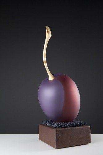 """Plum on Corten,"" photo-Pippy Mount1"