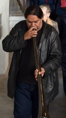 Didgeridoo player, William Barton