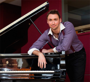 Pianist Andrew Rumsey… working with friends.