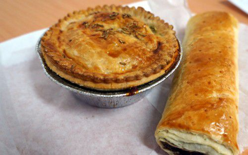 pie and roll