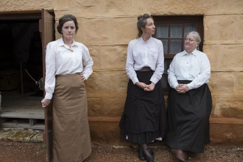 'The Home front', L-R Catherine Crowley, Ruth Pieloor, Lynn Peterson. Photo MVP Photography