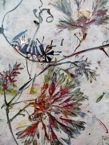 Linda Davy_The nature of value, porcelain, glazes, gold lustre.