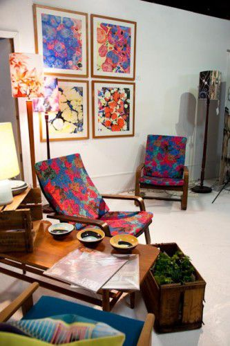 Up-cycled furnishings by Lost and Found Office. Photo, Howie Tien of Fat Pigeon Photography