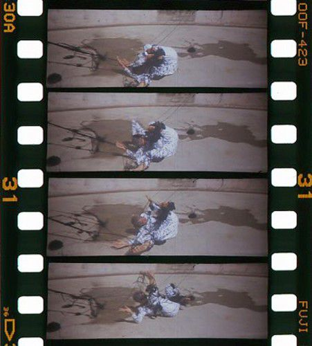 Nicci Haynes, Etching performance at Mount Stromlo, 2013, shot on 35mm film with hand-cranked movie camera, 18 seconds