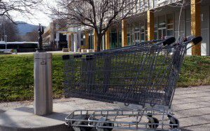shopping trolleys in Civic Square