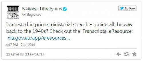 Great Oz Gov Tweets - #27 on July 7, 2014 from @nlagovau - Google Chrome 8072014 34319 PM