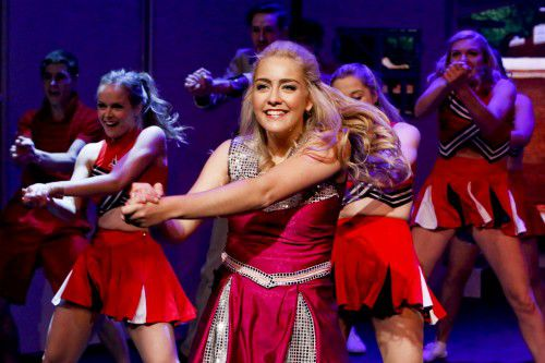 """""""Legally Blonde"""" star Mikayla Williams as Elle Wood."""