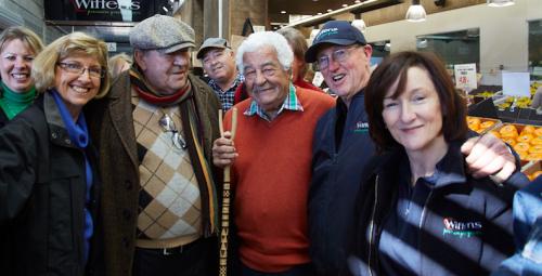 Celebrated Italian chef Antonio Carluccio at Fyshwick Markets. Photo by Aurore Harden, courtesy of the Truffle Festival