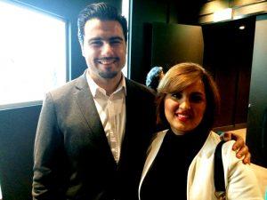 Director Amin Palangi and his sister Fatimeh