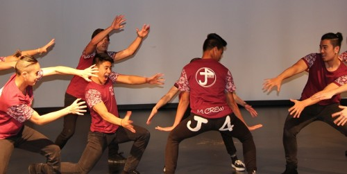 J4 Crew dancing at the Ausdance Youth Dance Festival launch