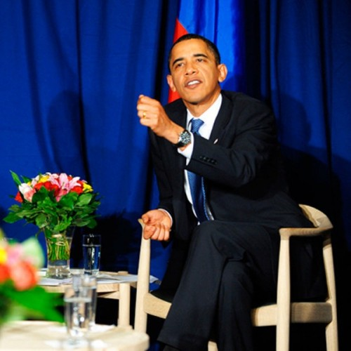 Obama on The Chair