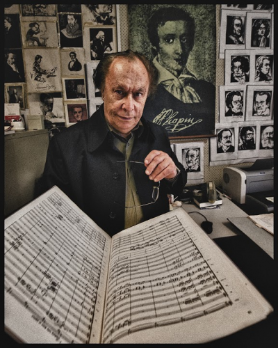 """Composer Larry Sitsky… """"I like to challenge the audiences"""". Image from """"A Portrait of Canberra and of Canberrans"""", by renowned photographer Heide Smith"""