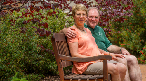 """Martin Jennings and Kay Newman... """"We were interested in creating a garden here that was native, but also formal, and we worked with a designer to achieve that."""""""