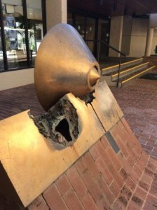 damaged sculpture