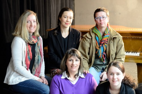 Fiona Robertson, Michelle Priest, Cerri Murphy, Judith Peterson and Sarah McKinnon in 'The Chocolate Game'
