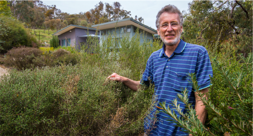 """Brad Pillans... """"I love to try plants that people say will never grow here – I like the challenge of bringing a rainforest plant to frosty Canberra."""""""