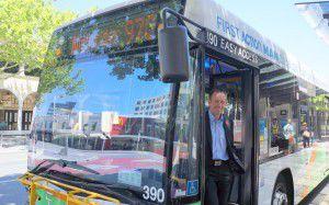 shane on a nightrider bus