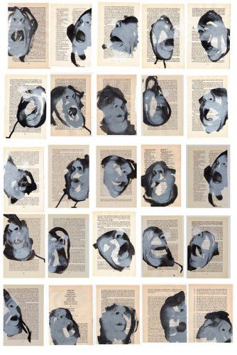 Nicci Haynes, 'Speech Acts, Ink', screen print on book pages