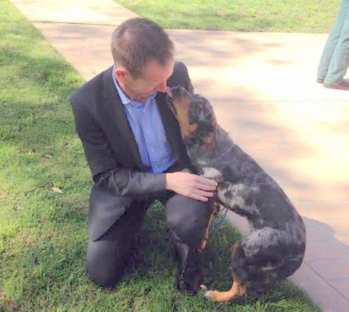 shane rattenbury and dog
