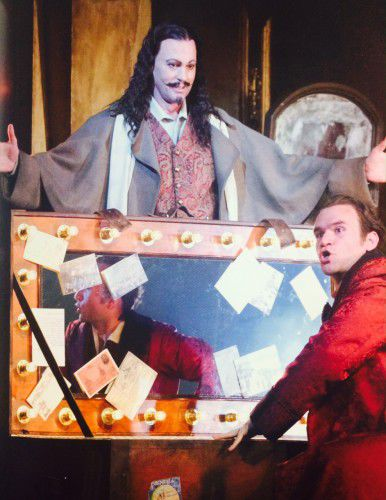 Teddy Tahu Rhodes (top) as Mephisto and Michael Fabiano as Faust