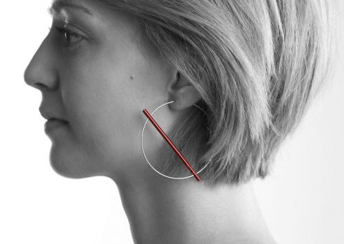 Phoebe Porter, Construct earrings.