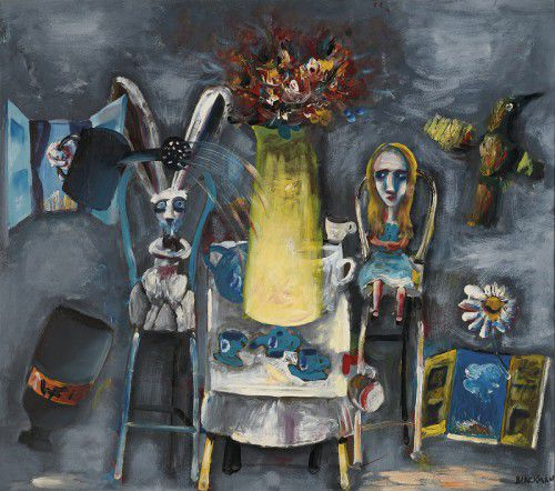 Charles Blackman. born 1928 'Rabbit tea party'1956–57