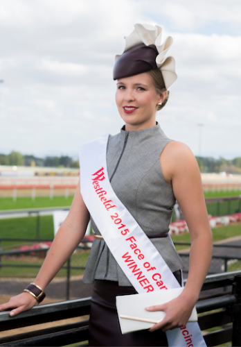 """The new Face of Canberra Racing Kate Speldewinde… """"I have really fallen in love with racewear fashion, it is a nice blend of placid and sexy whilst being modest with knee-length skirts."""" Photo by Andrew Finch"""