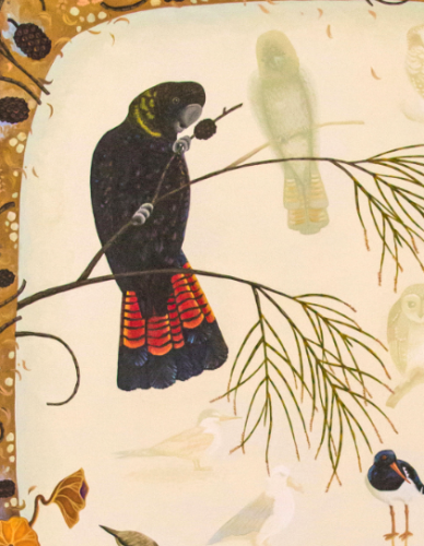 Annie Franklin, bird shadows, detail