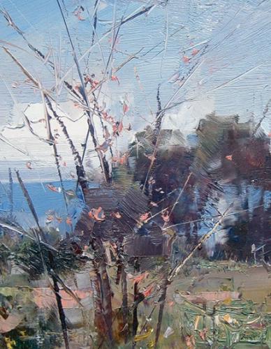 Ken Knight plein air work detail