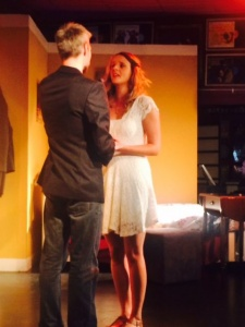 Cast 1, the proposal:  Vanessa De Jager and Fraser Findlay