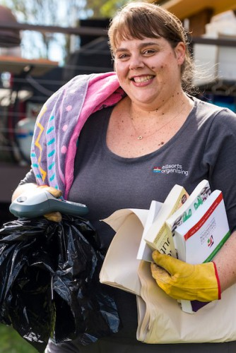 "Melissa Sleegers… ""We all have tendencies to let clutter build up, but hoarding disorder is when clutter negatively impacts on a person's life."" Photo by Andrew Finch"