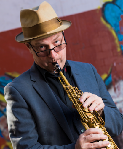 American sax player Philip Johnston… laconic enough to be taken for an Australian. Photo by ANDREW FINCH